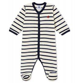 Petit Bateau Petit Bateau pyjama velours strepen