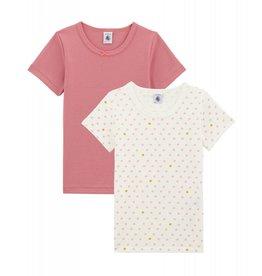 Petit Bateau Petit Bateau set van 2 meisjes T-shirts met korte mouwen stip