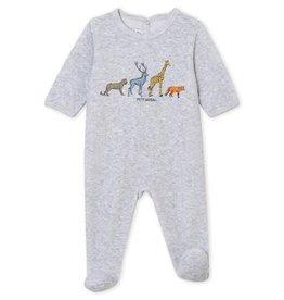 Petit Bateau Petit Bateau pyjama velours poussiere chine