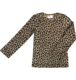 maed for mini maed for mini longsleeve shirt brown leopard aop