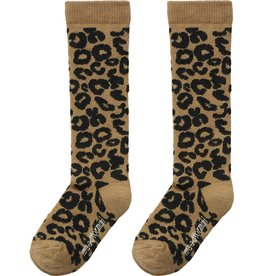 maed for mini maed for mini knee socks brown leopard