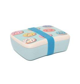 Petit Monkey Petit Monkey lunchbox bamboo donuts blue