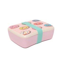 Petit Monkey Petit Monkey lunchbox bamboo donuts pink
