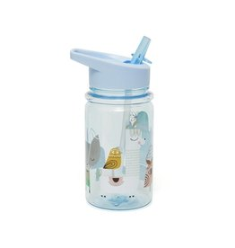 Petit Monkey Petit Monkey drinkfles lama & friends blue