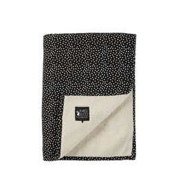 Mies & Co Mies & Co deken soft teddy cozy dots black