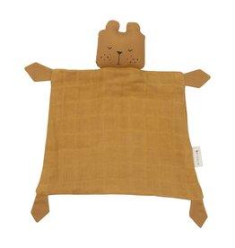 Fabelab Fabelab knuffeldoek lazy bear ochre
