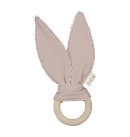 Fabelab Fabelab bijtring bunny mauve