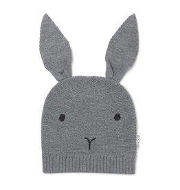 Liewood Liewood knit hat rabbit grey melange