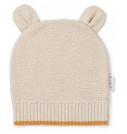 Liewood Liewood knit hat mr bear beige beauty