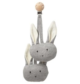 Liewood Liewood pram toy rabbit grey melange
