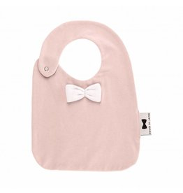 House of Jamie House of Jamie bow tie bib powder pink