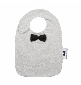 House of Jamie House of Jamie bow tie bib black & stone