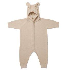 Liewood Liewood Linus knit jumpsuit mr bear beige beauty
