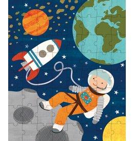 Petit Collage Petit Collage puzzel 64-delig astronaut in de ruimte