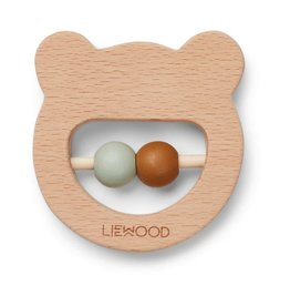 Liewood Liewood Ivalu bijtring hout mr bear natural