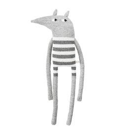 main sauvage main sauvage wolf soft toy striped