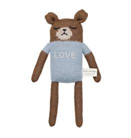 main sauvage main sauvage teddy soft toy blue