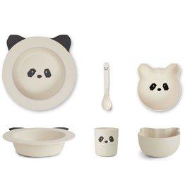 Liewood Liewood Barbara bamboo baby set panda creme de la creme