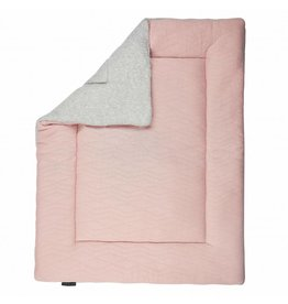 House of Jamie House of Jamie boxkleed (omkeerbaar) geometry jacquard powder pink & stone 75x95