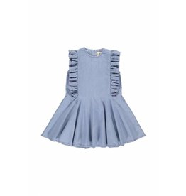Gro Gro Signe flounced dress light denim