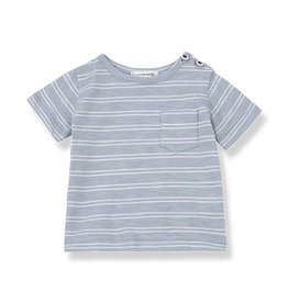 1 + in the family 1+ in the family Luca t-shirt light blue/white