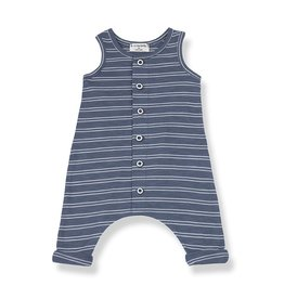 1 + in the family 1 + in the family Piet overall indigo/white