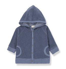 1 + in the family 1+ in the family Milou hood jacket indigo