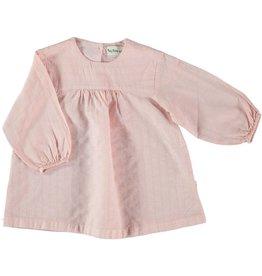 My Little Cozmo my little cozmo dress lurex stripes soft pink