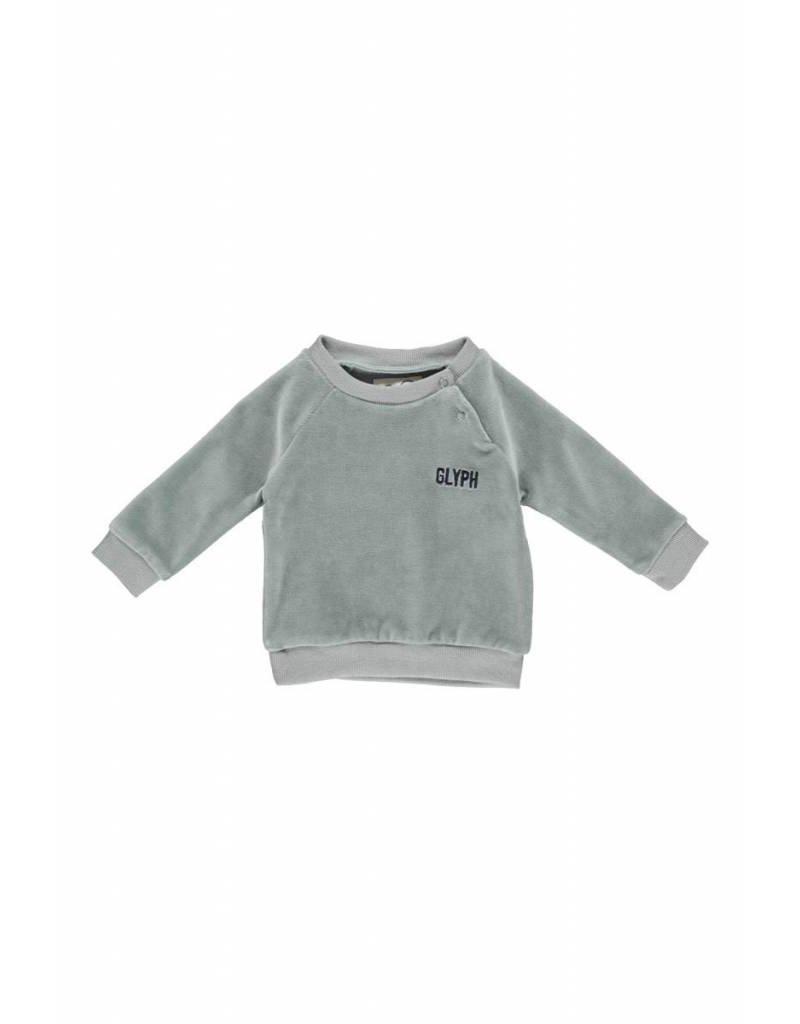 Gro Gro Star baby sweat moss grey