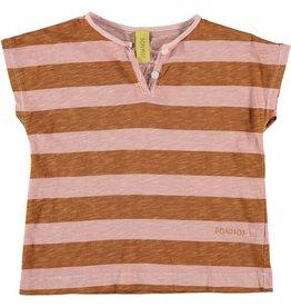 Bonmot Bonmot t-shirt henley vintage rose mustard