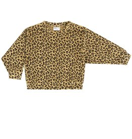 maed for mini maed for mini sweater yellow leopard