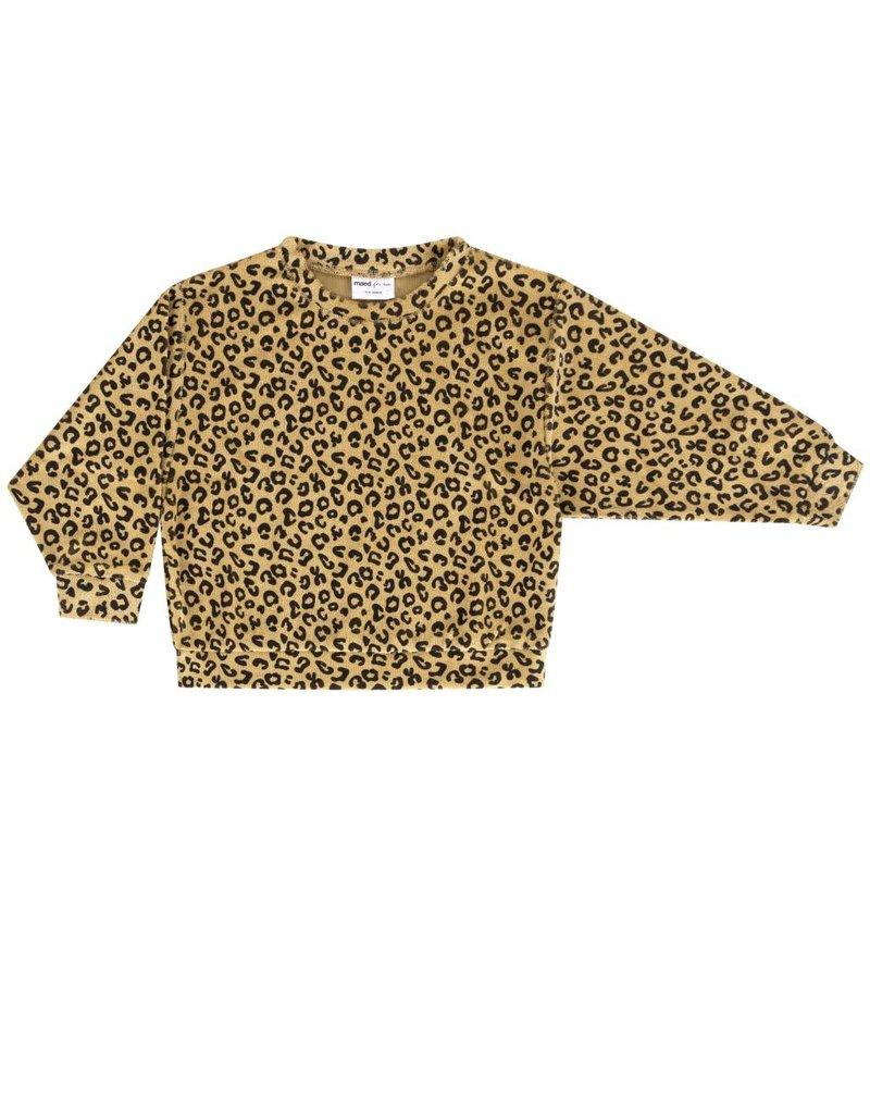 maed for mini maed for mini sweater yellow leopard