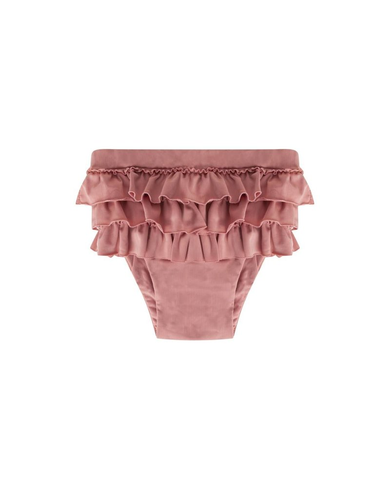 maed for mini maed for mini ruffle swim shorts funky flamingo