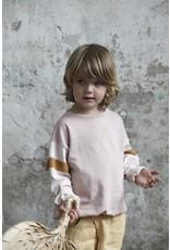 Bonmot Bonmot sweatshirt stripe sleeve vintage rose