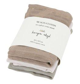 Konges Slojd Konges Slojd 3-pack muslin cloths rose dust