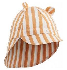Liewood Liewood Gorm sun hat stripe mustard/creme