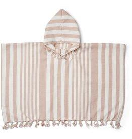 Liewood Liewood Roomie poncho stripe rose/creme de la creme