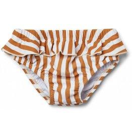 Liewood Liewood Elise baby girl swim pants stripe mustard/creme de la creme