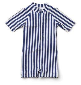 Liewood Liewood Max swim jumpsuit stripe navy/creme de la creme