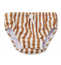 Liewood Liewood Frej baby boy swim pants stripe mustard/creme de la creme