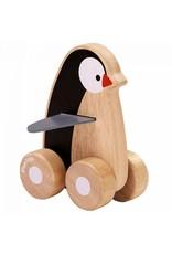 Plan Toys Plan Toys penguin wagentje
