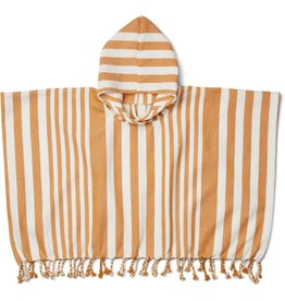 Liewood Liewood Roomie poncho stripe mustard/creme de la creme