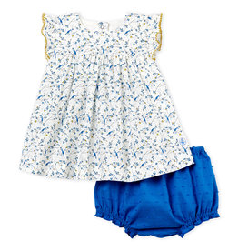 Petit Bateau Petit Bateau Babyfoot robe + bloomer