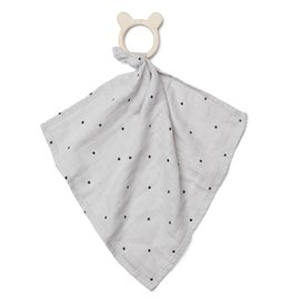 Liewood Liewood Dines teether cuddle cloth classic dot dumbo grey