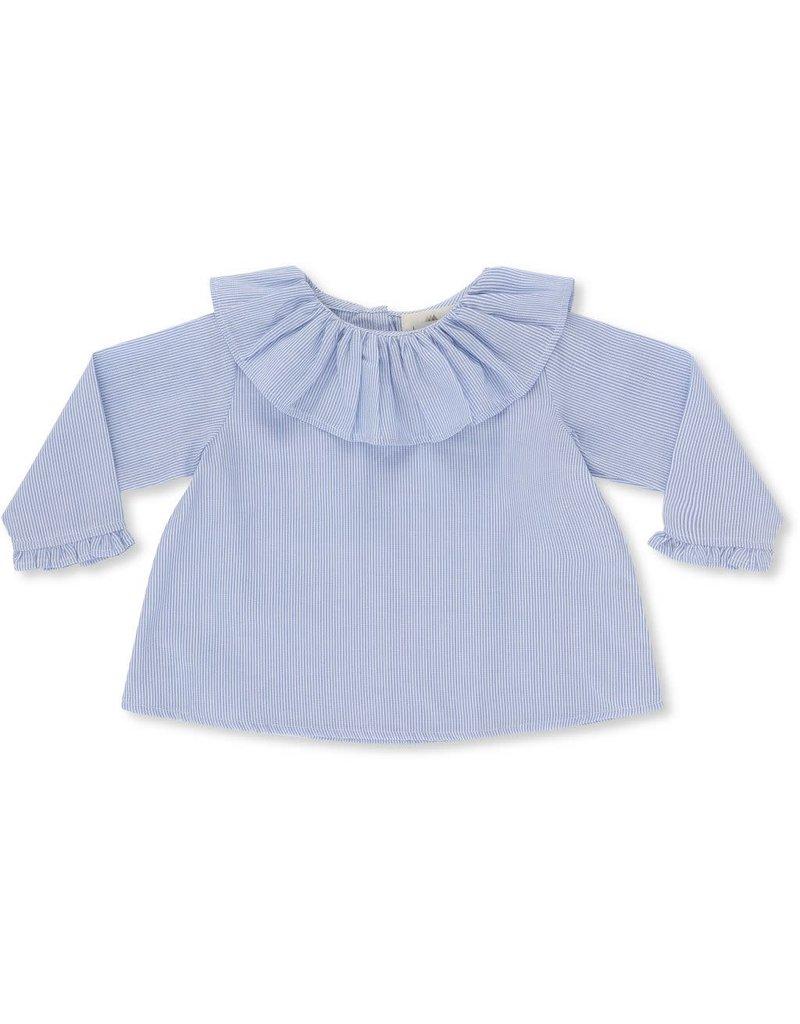 Konges Slojd Konges Slojd Umami collar blouse striped navy/nature