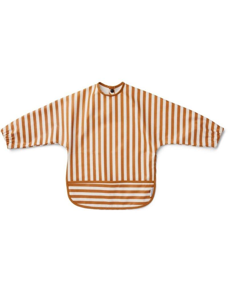 Liewood Liewood Merle cape slab stripe mustard/creme de la creme