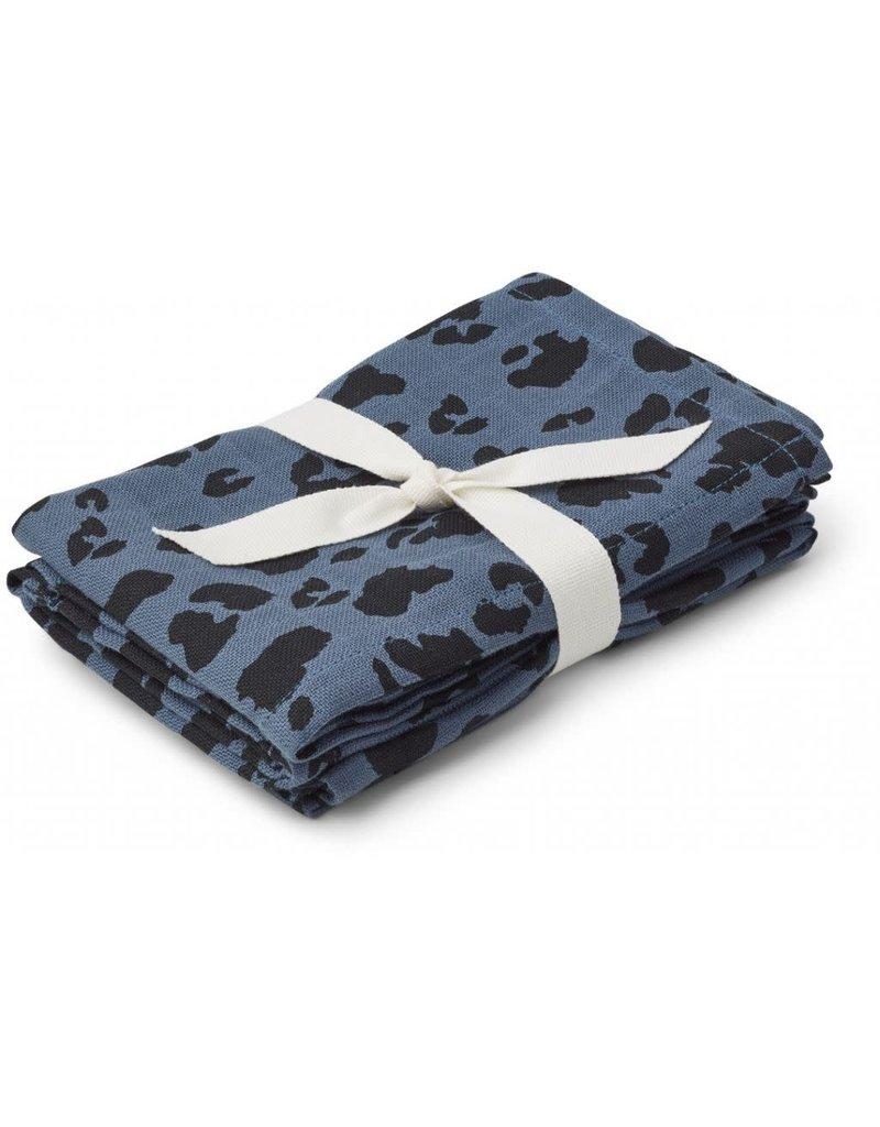 Liewood Liewood Hannah tetradoek 2-pack 70x70 leo blue wave