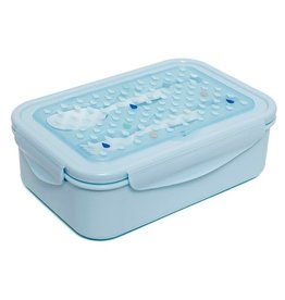 Petit Monkey Petit Monkey Bento lunchbox drops blue