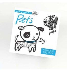 Wee Gallery Wee Gallery slide&play board book  pets