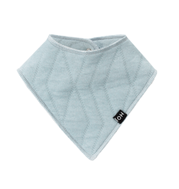 House of Jamie House of Jamie baby burb bib geometry jacquard jade green